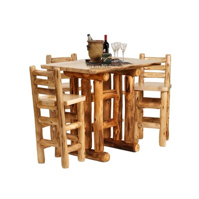 Aspen Heirloom Pub Table Color: Beeswax / Linseed Oil, Tabletop Size: 48 W x 36 D