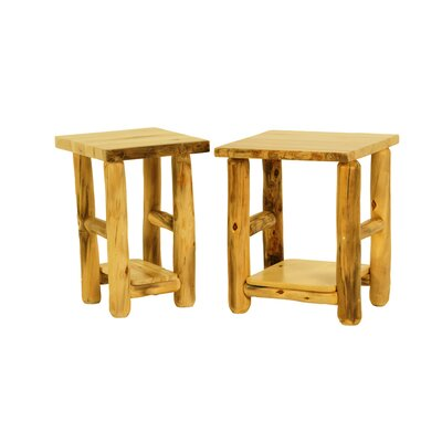 Rustic Arts� End Table Finish: Poly