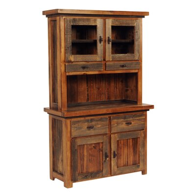 The Wyoming Collection� China Cabinet Color: Contoured Wood