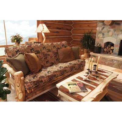 Aspen Heirloom Sofa Finish: Golden Poly, Fabric Color: Peters Cabin