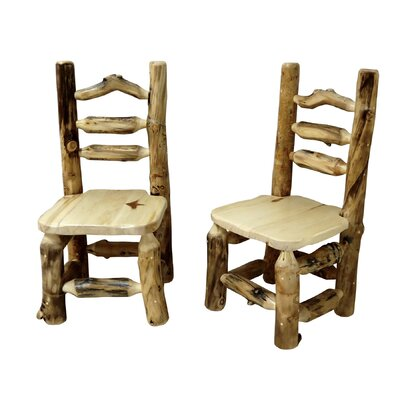 Aspen Grizzly Solid Wood Dining Chair Finish: Poly