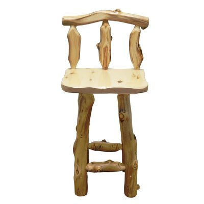 Aspen Grizzly 30 Barstool Finish: Beeswax / Linseed Oil