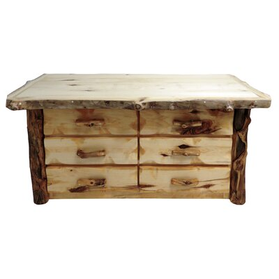 Aspen Grizzly 6 Drawer Dresser Finish: Golden Poly