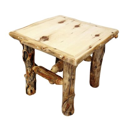 Aspen Grizzly End Table Finish: Poly