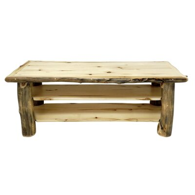 Aspen Grizzly 44-60 TV Stand Color: Golden Poly, Width of TV Stand: 24 H x 60 W x 22 D