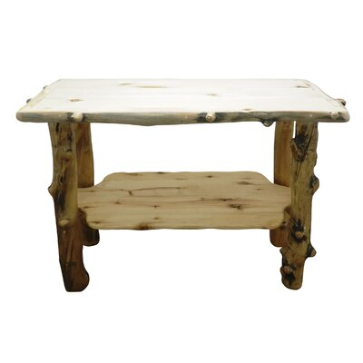 Aspen Grizzly Console Table Finish: Poly