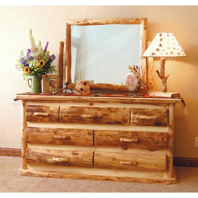 Aspen Heirloom 7 Drawer Dresser Finish: Golden Poly