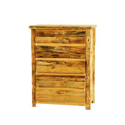 Rustic Arts 5 Drawer Standard Chest Finish: Beeswax / Linseed Oil
