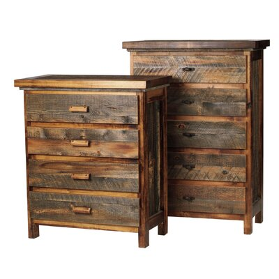The Wyoming Collection�? 4 Drawer Standard Chest Color: Bronze Oval