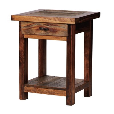 The Wyoming Collection�? 1 Drawer Nightstand Color: Contoured Wood