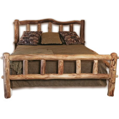 Rustic Arts Platform Bed Finish: Beeswax / Linseed Oil, Size: King