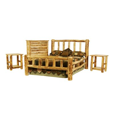Rustic Arts� Platform 4 Piece Bedroom Set Size: Queen, Finish: Wax