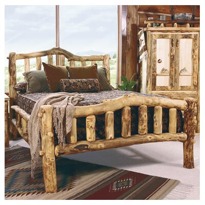 Aspen Heirloom Snowload II Platform Bed Finish: Golden Poly, Size: Full