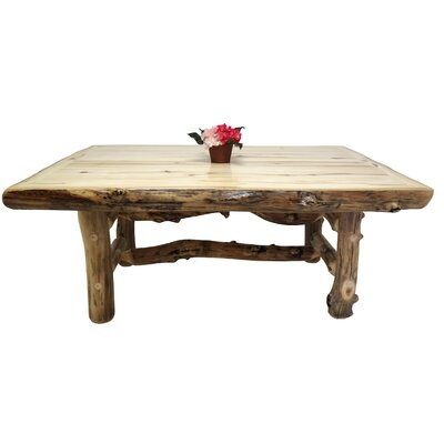 Aspen Grizzly Dining Table Finish: Beeswax / Linseed Oil, Size: 30 inch H x 84 inch L x 42 inch W