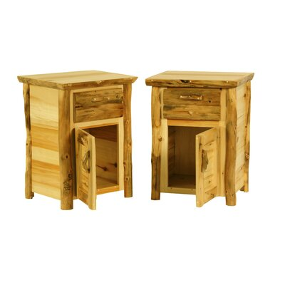 Rustic Arts�? 1 Drawer Nightstand Color: Poly