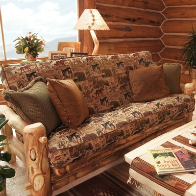 Aspen Heirloom Sofa Finish: Golden Poly, Fabric Color: Yosemite
