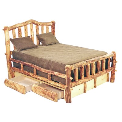 Aspen Heirloom Snowload I Platform Bed Finish: Golden Poly, Size: Queen