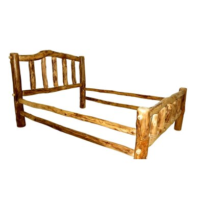 Rustic Arts� Platform Bed Size: Full, Color: Poly