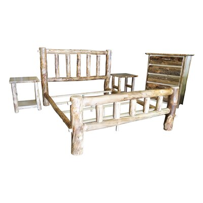 Rustic Arts� Platform 4 Piece Bedroom Set Size: King, Finish: Poly