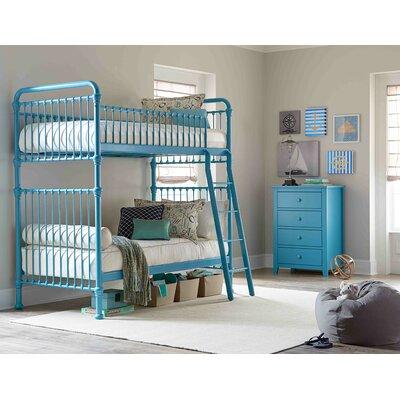 Landry Twin Slat Bunk Bed Finish: Aqua