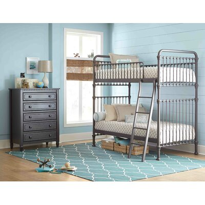 Landry Twin Slat Bunk Bed Finish: Pewter