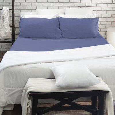 300 Thread Count 100% Cotton Sheet Set Color: Blue, Size: Queen