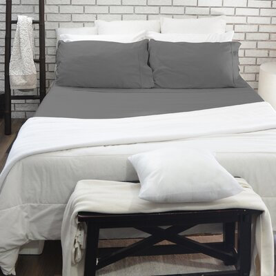 300 Thread Count 100% Cotton Sheet Set Size: Double, Color: Gray