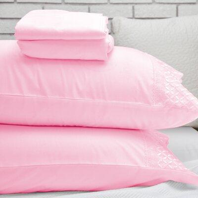 Lace Design Sheet Set Size: Queen, Color: Rose Quartz