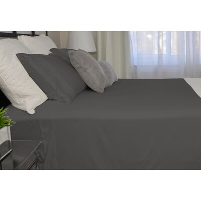 9900 Platinum Series Deep Pocket Sheet Set Size: Twin, Color: Dark Gray