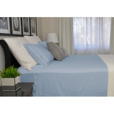 9900 Platinum Series Deep Pocket Sheet Set Size: Double, Color: Light Blue