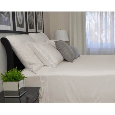9900 Platinum Series Deep Pocket Sheet Set Size: Queen, Color: White