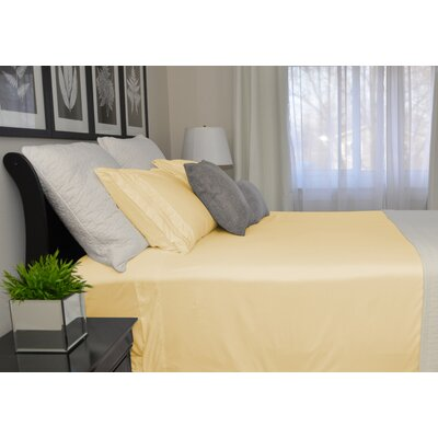 9900 Platinum Series Deep Pocket Sheet Set Size: Twin, Color: Yellow