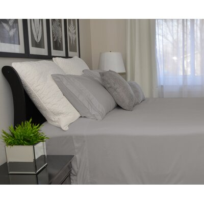 9900 Platinum Series Deep Pocket Sheet Set Size: Full/Double, Color: Gray