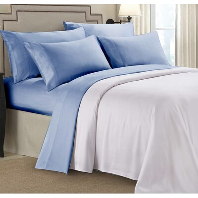 Rayon From Bamboo Sheet Set Color: Blue, Size: Split King