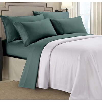 Bliss 4 Piece 100% Organic Tencel Sheet Set Size: Queen, Color: Teal