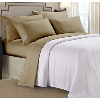 Rayon From Bamboo Sheet Set Color: Tan, Size: Queen