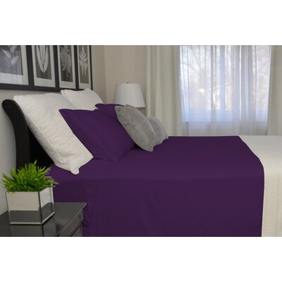 9900 Platinum Series Deep Pocket Sheet Set Size: Full/Double, Color: Purple