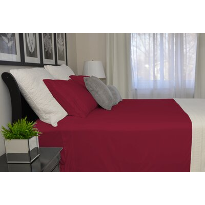 9900 Platinum Series Deep Pocket Sheet Set Color: Red, Size: Twin