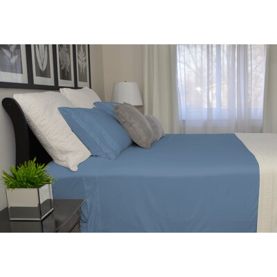 9900 Platinum Series Deep Pocket Sheet Set Size: King, Color: Blue