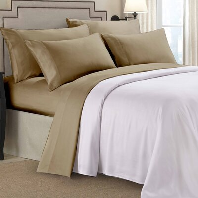 8000 Gold Series Deep Pocket Sheet Set Size: King, Color: Tan