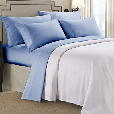 8000 Gold Series Deep Pocket Sheet Set Size: Full/Double, Color: Blue