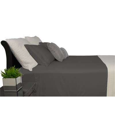 9900 Platinum Series Deep Pocket Sheet Set Size: Full/Double, Color: Dark Grey