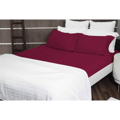 8000 Gold Series Deep Pocket Sheet Set Size: King, Color: Red