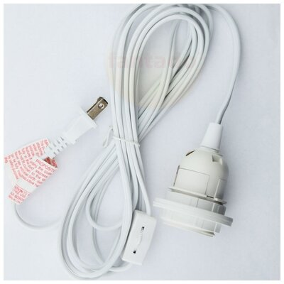 Single Socket Pendant Light Cord Kit Size: 132 H x 2.5 W x 2.5 D