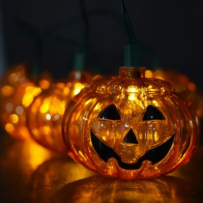 10 LED Jack O Lantern Pumpkin Halloween String Light