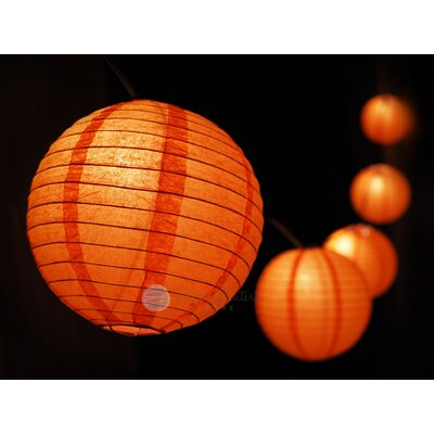 Halloween Jack O Lantern Pumpkin Paper Lantern String Light