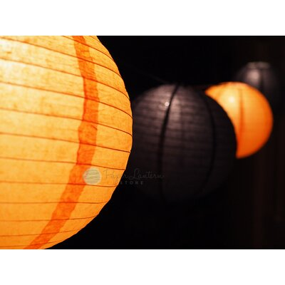 Halloween Cord and Paper Lantern String Light