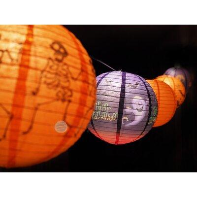 Halloween Assorted Paper Lantern String Light