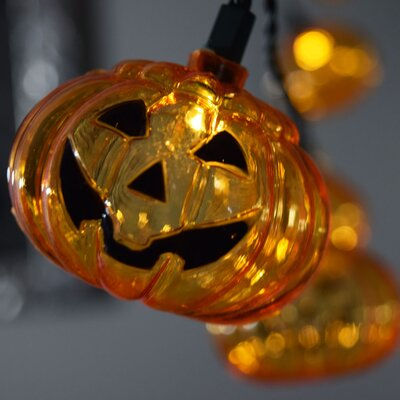 10 LED Jack O Lantern Pumpkin Halloween String Light