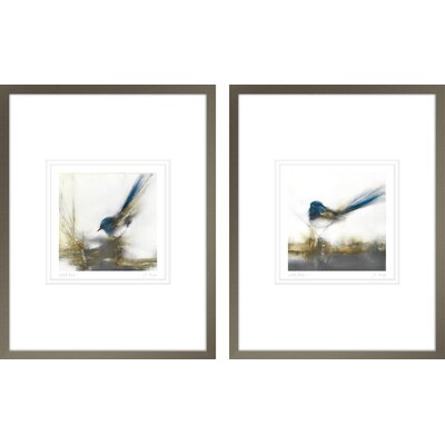 'Little Blue I, Little Blue II' by JP Prior 2 Piece Framed Painting Print Set POD5975PC